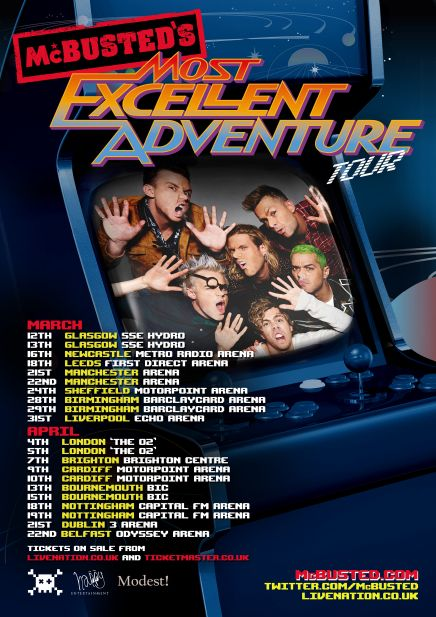 Mcbusteds most excellent adventure 2015 - tour poster