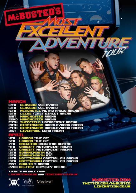 Mcbusteds most excellent adventure 2015 - tour poster