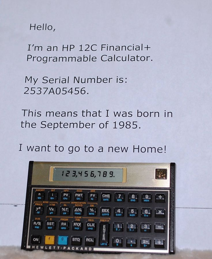 1985 HP Model 12C Financial Programable Calculator with Orig case by ourPastourFuture on Etsy