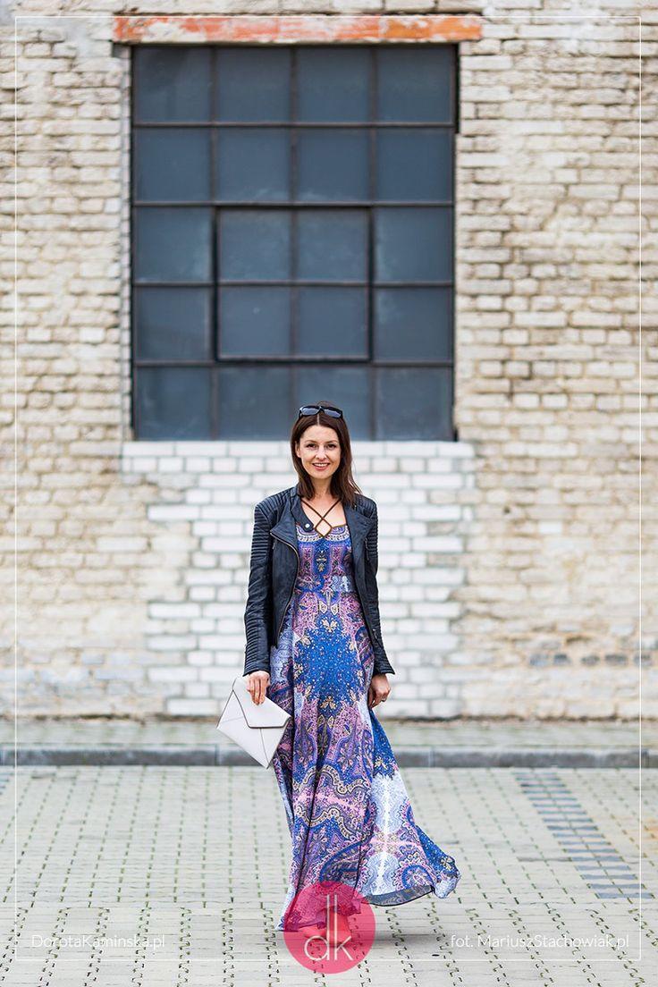 Sukienka maxi w etniczne wzory, piękna i zwiewna, elegancka. #outfit #maxidress #dress #fashion #moda #styl #style