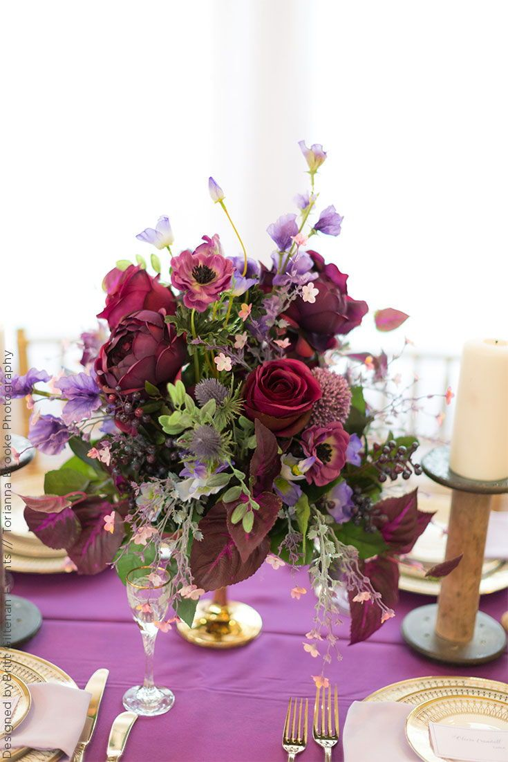 Create Your Own Wedding Centerpieces In Colors With Silk Flowers
