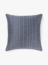Feather Euro Pillowcase Stone Blue
