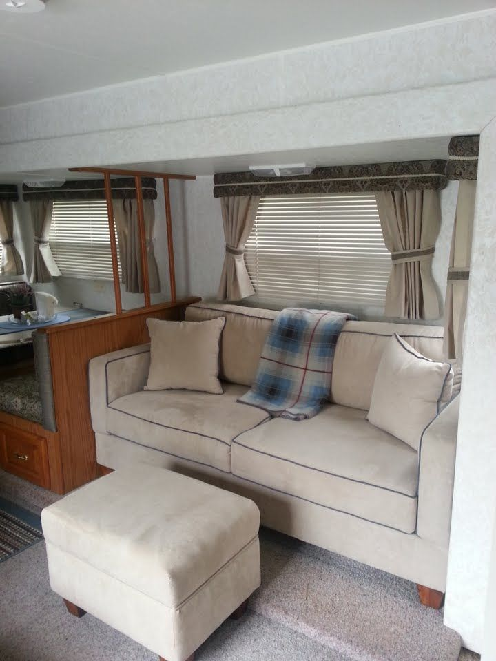 New Brandon Mid Size in my remodeled Jayco Camper/RV small & tight spaces with narrow door problem resolved!
