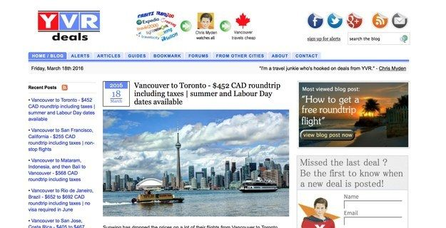 Vancouver: YVR Deals | 10 Discount Travel Sites Every Canadian Should Know About