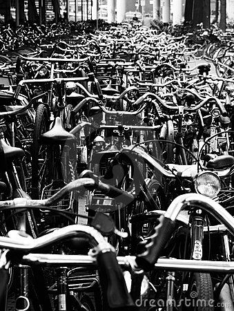 #Bike station in Amsterdam.  #photography