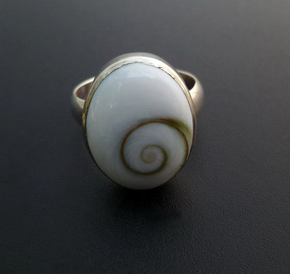 Shiva Eye Shell Ring Custom Made Cats Eye Ring Sterling