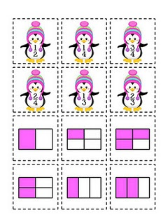 penguin fraction matching game