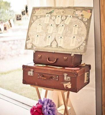 déco mariage tour du monde vintage