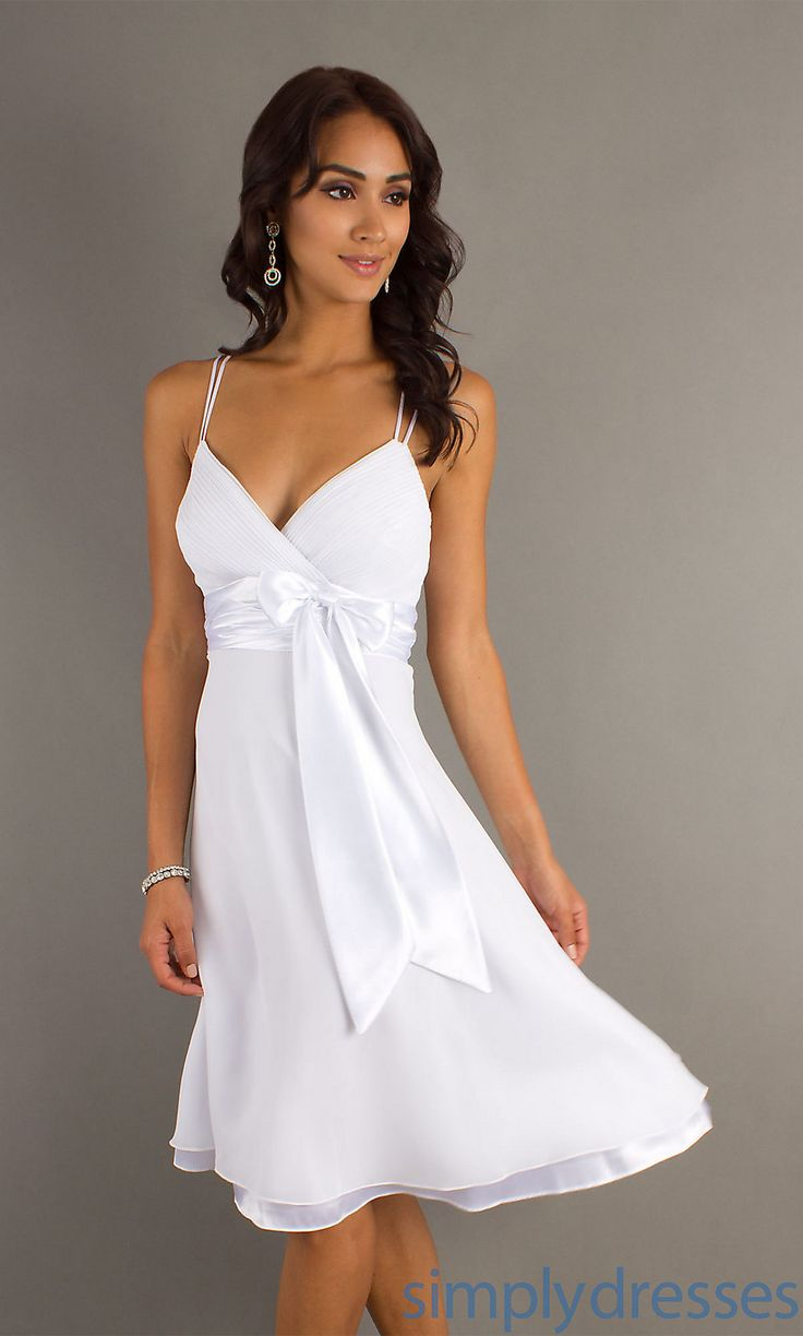 ❤ Knee Length Shirred Satin Bow Dress $99  This was a hit look at a DEB event, classic, elegant & pretty. (2013)