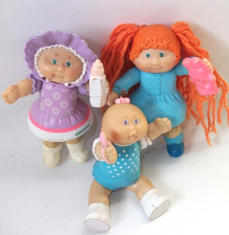 Vintage Cabbage Patch Kids Doll Figures Vintage Dolls. $18.00, via Etsy.