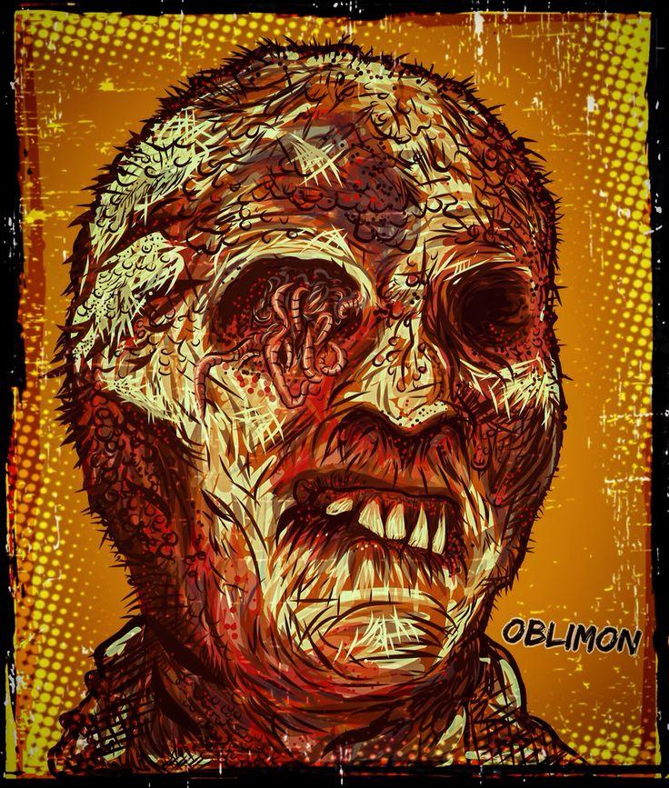 Adobe draw digital art sketchbook Fulci zombie
