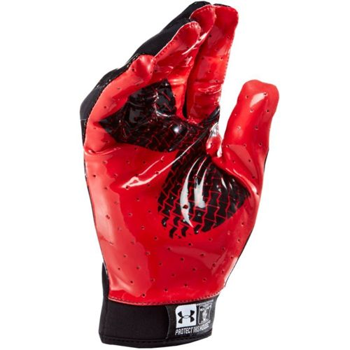 red under armour football gloves