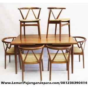 Set Meja Makan Kursi Cafe Model W