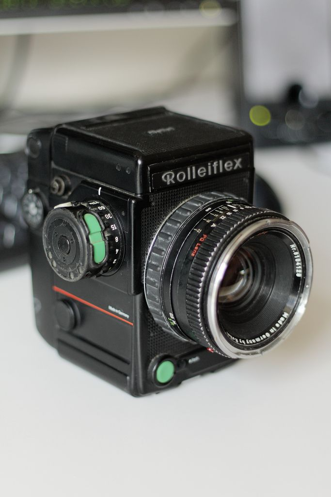 Rolleiflex 6008 Professional - best medium format camera. Not highly regarded as Hasselblad, but fullfilling the highest standards of optics, mechanics and electronics.