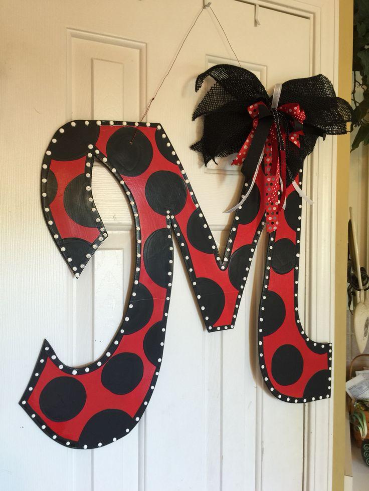 Initial M Wooden Door Hanger