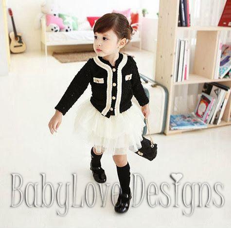 Black Top and White Skirt Set $27 + P&H