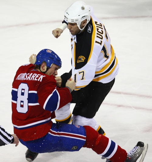 Milan Lucic going into beast mode