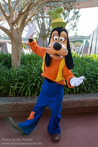 Goofy At Disney Character Central Ethan Disney Pics