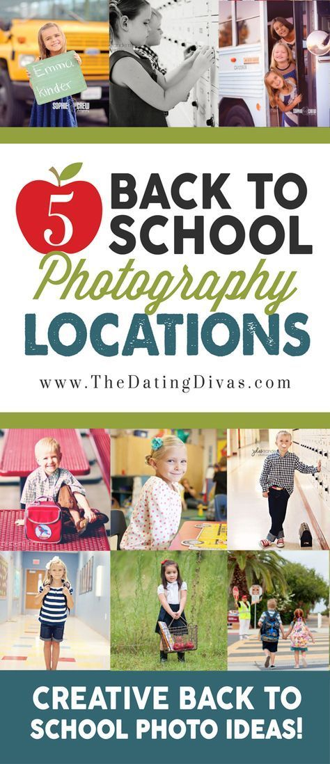 Back to School Photography Locations- tons of ideas for taking photos on the first day of school!