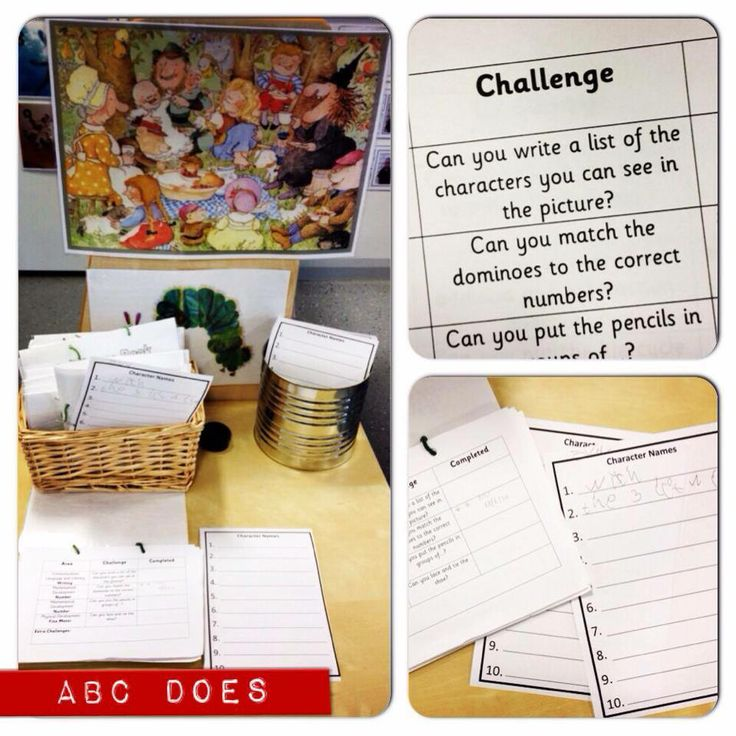 challenges - write the names of the characters you can see in the picture