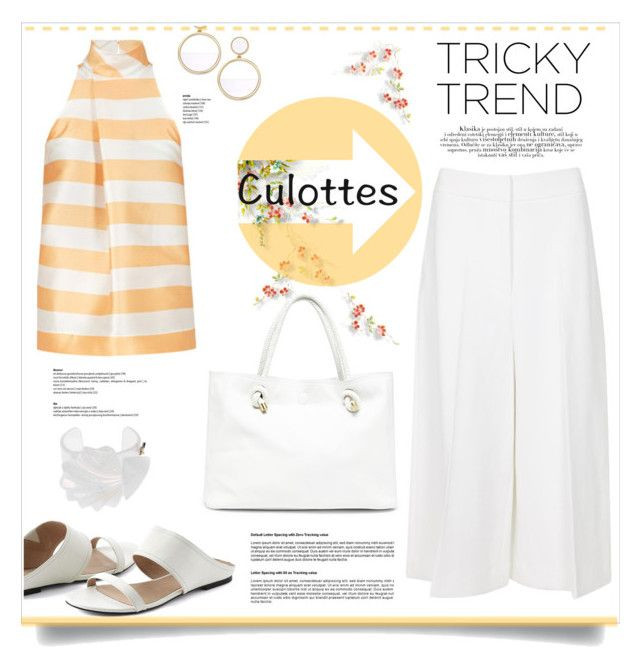 Chic Culottes by kiki-bi on Polyvore featuring polyvore moda style Rosetta Getty Lands' End Sole Society Kate Spade Patrizia Pepe fashion clothing TrickyTrend culottes