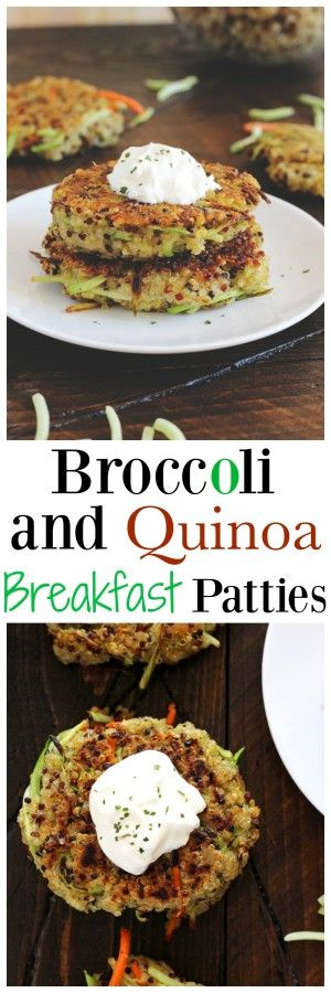 Broccoli and Quinoa Breakfast Patties - Made with broccoli, quinoa, carrots and flax seeds, a healthy addition to your morning routine. But don't stop there, you can even use these to make loaded veggie burgers! NeuroticMommy.com #vegan #healthy