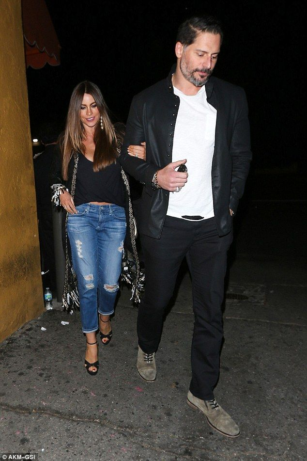 Keeping it cool: Sofia, 44, and Joe, 40, were both casually dressed for their night out