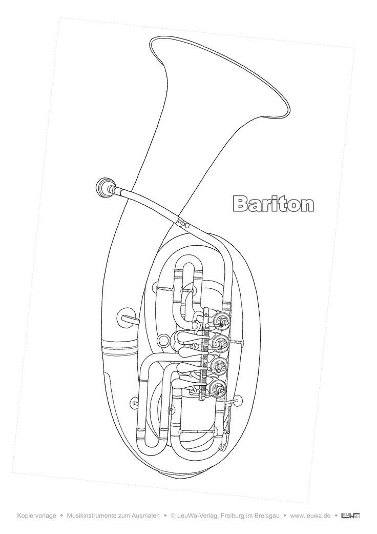 musikinstrument zum ausmalen  bariton