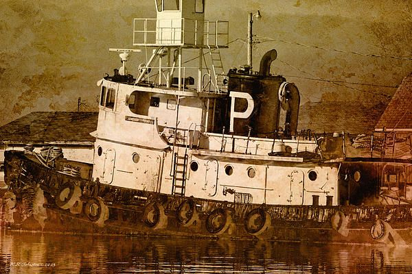 Tugboat. Photo art by WB Johnston, available as prints in a large variety of sizes.