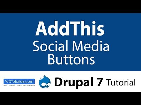 Addthis Social Media Buttons (Drupal Tutorial) - YouTube