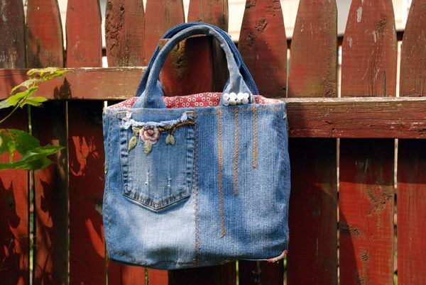 If you have some cool embroidered denim lurking around in your closet that you haven't worn in years...or maybe months, pull it out and remake it into a hip bag!