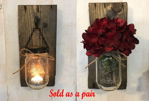 Candle holders Rustic candle holders Candles by RustiqueSigns