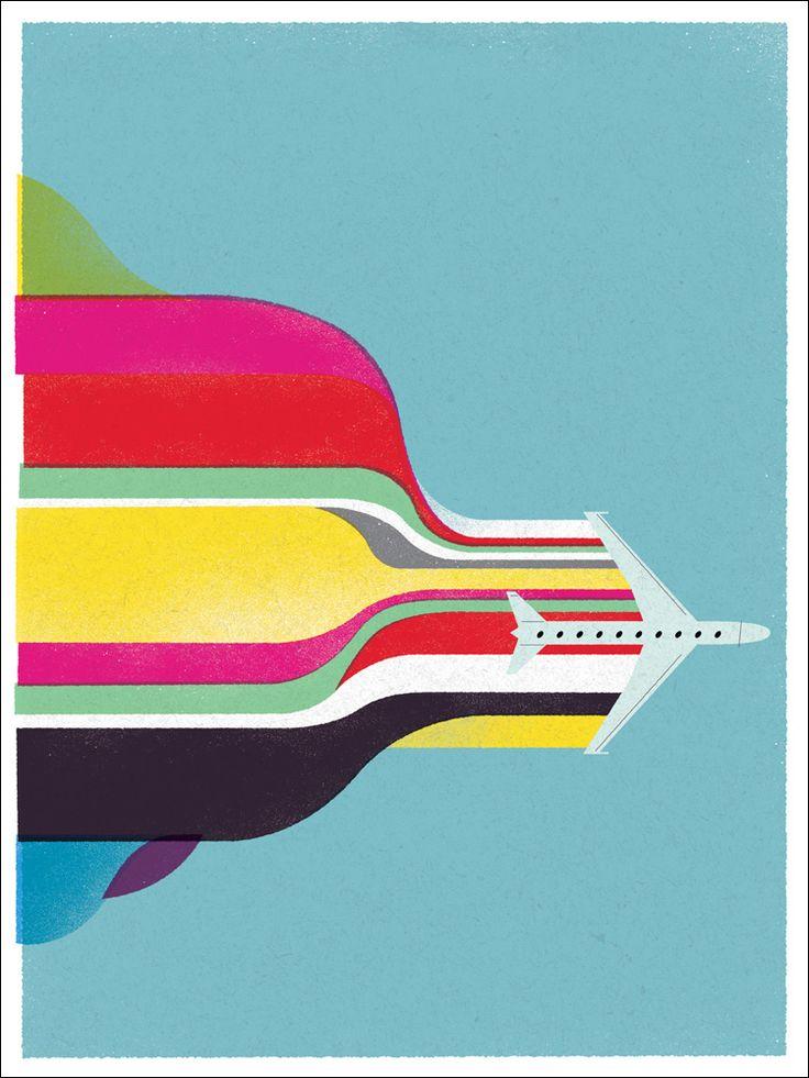 : Graphic Design, Travel Illustrations, Art Design Inspiration, York Magazines, Graphics Design Studios, Rainbows Color, New York, U.S. States, States Graphics
