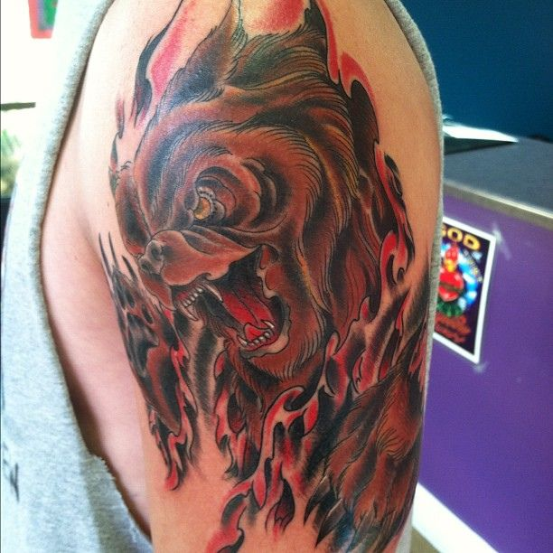 Pin on Bear tattoos & artwork