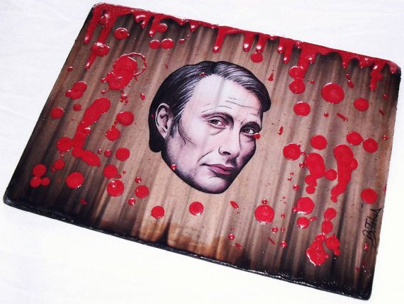 Dr. Hannibal Lecter  Mixed Painting On Hardboard by BettysArtworks