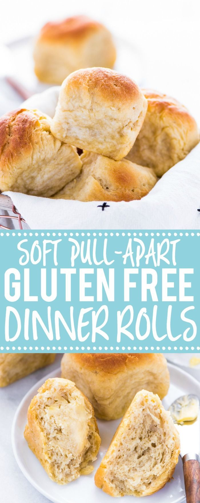 These gluten free dinner rolls are soft with a nice chew to it - just like regular wheat rolls! If you've been missing real dinner rolls, try this recipe! Plus, they're much easier to make than you'd think! From @whattheforkblog | whattheforkfoodblog.com | gluten free bread recipes | gluten free rolls | yeast rolls | gluten free yeast rolls | gluten free bread recipes #glutenfree #dinnerrolls #yeastrolls #glutenfreebaking #easyrecipes #glutenfreerecipes #glutenfreebread #bread #recipes