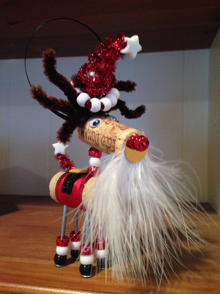 Wine+Cork+Ornament+Santa+by+Korkles+on+Etsy,+$10.00                                                                                                                                                     More