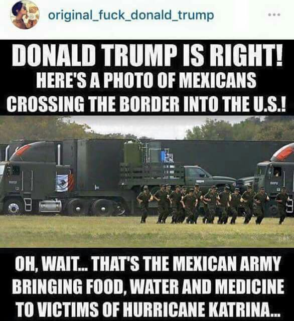 Donald Trump, Mexico, Hurricane Katrina