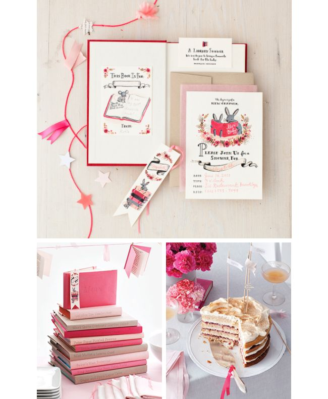 book themed baby shower from rifle paper co love all booktheme parties