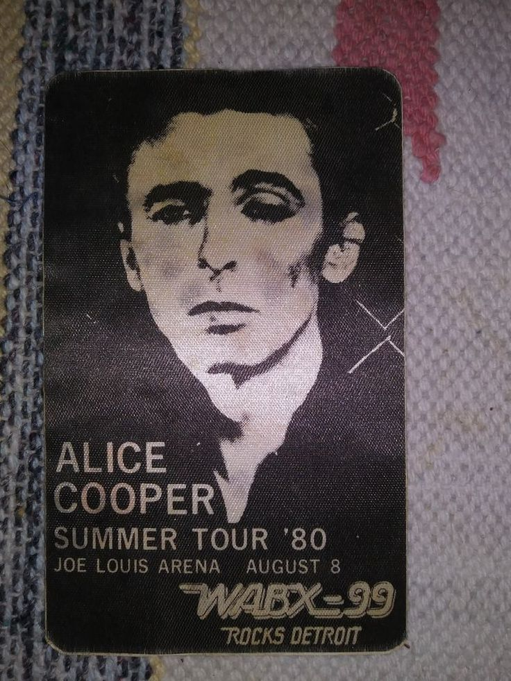 Vintage ALICE COOPER Authentic 1980 Summer Tour Satin Backstage Pass Collectible