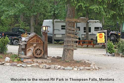 RV Park At Riverfront Motel And Lodging In Thompson Falls Montana