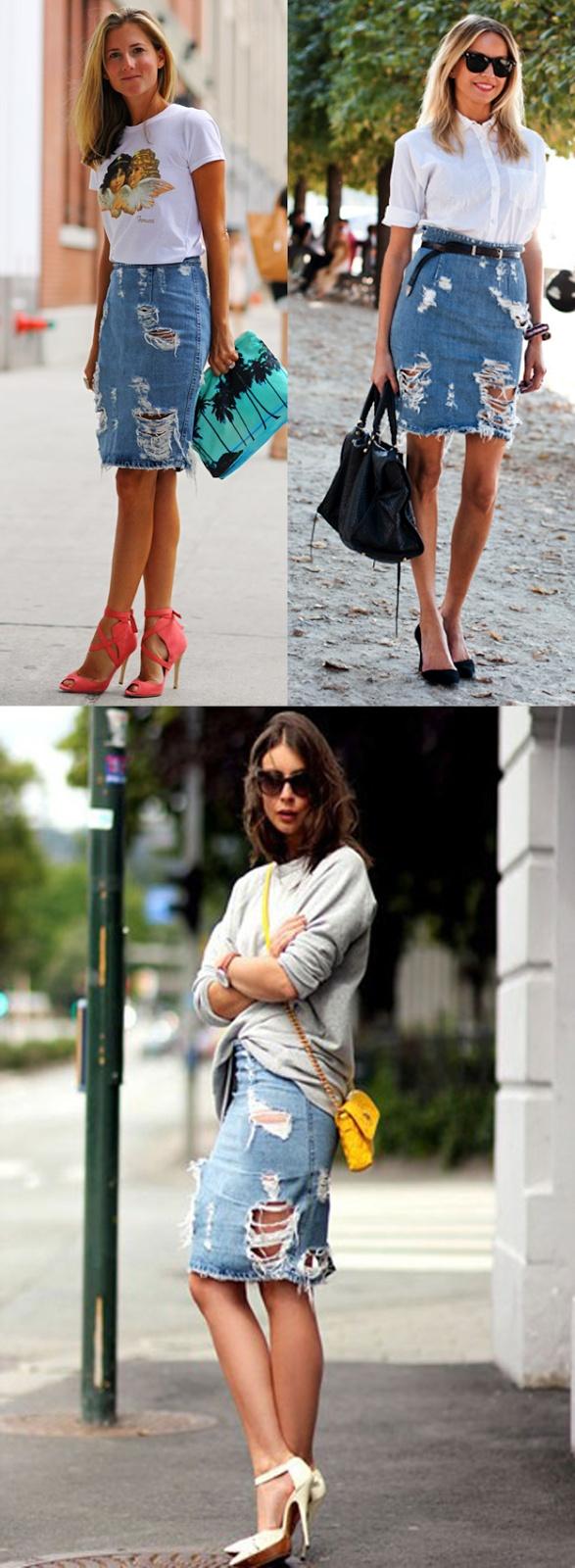 Jeans skirt Jeans Skirt #2dayslook #lily25789 #JeansSkirt www.2dayslook.com