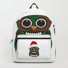 Christmas Owl Backpacks