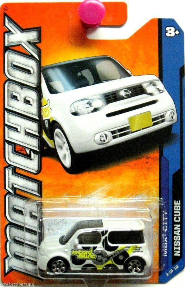 2011 Matchbox MBX City Record Music Nissan Cube Car NIB 2 of 10 NIP