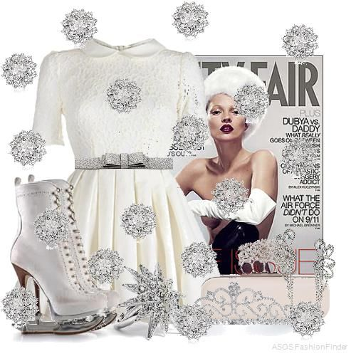 This would be an Elsa inspired outfit for Disney's Frozen.   Christmas Ice Skater   Women's Outfit   ASOS Fashion Finder
