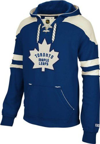 Toronto Maple Leafs Blue CCM Pullover Lace Up Hooded Sweatshirt by Reebok. $69.95