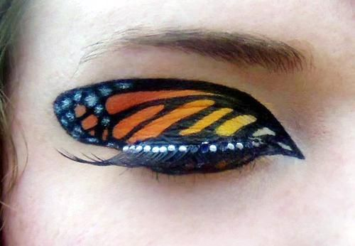 Monarch Butterfly eye makeup