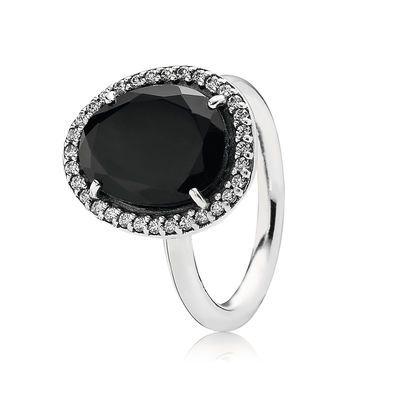 Statement Black Spinel Ring