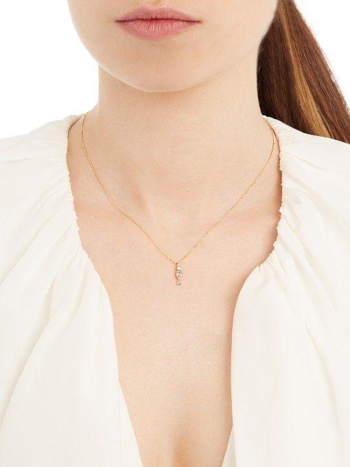 voortreffelijk Loren Stewart diamant, topaas, aquamarijn en geel gouden ketting