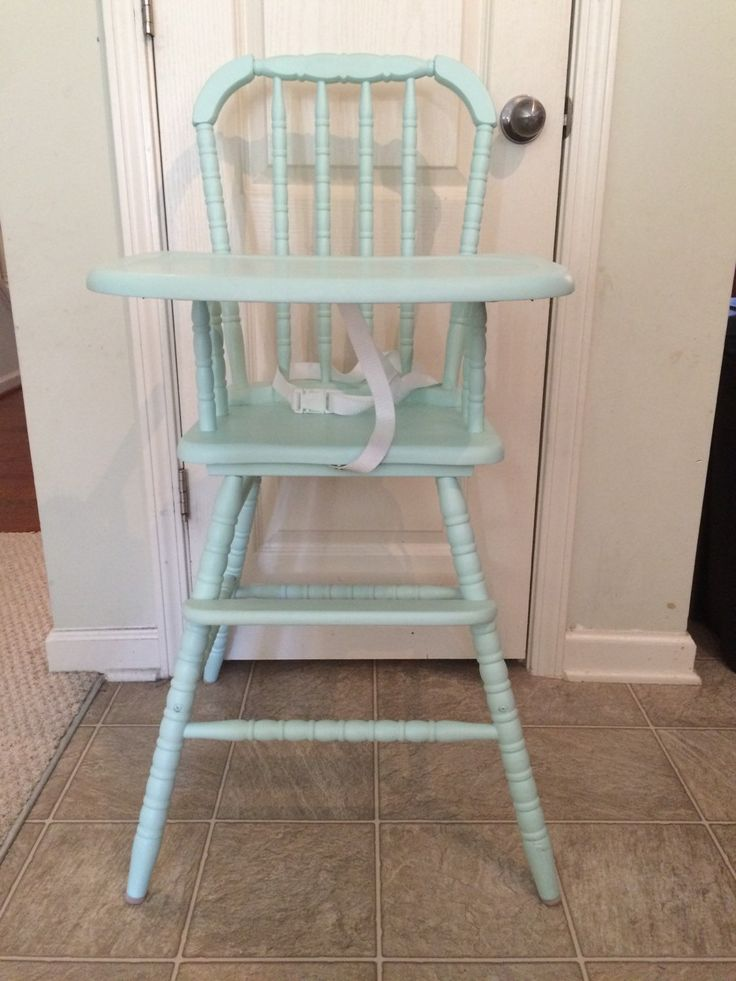 Vintage Wooden High Chair, Jenny Lind, Antique High Chair, Vintage High Chair, Custom Painted High Chair, 1st birthday, Smashcake by TheKristKorner on Etsy